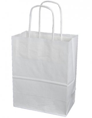 Papperskasse Vit Goodiebag, 300st, 180x100x230mm