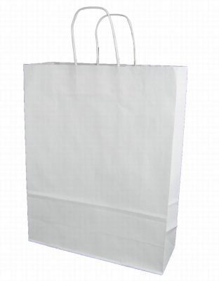 Papperskasse Vit goodiebag 320x120x410mm 175st